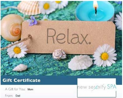 Day Spa Gift card scottsdale