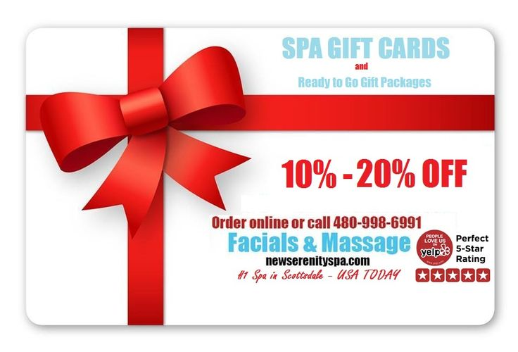 Mother's Day Spa Gift Card Sale Scottsdale - New Serenity Spa
