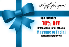 New Serenity Spa Gift Card