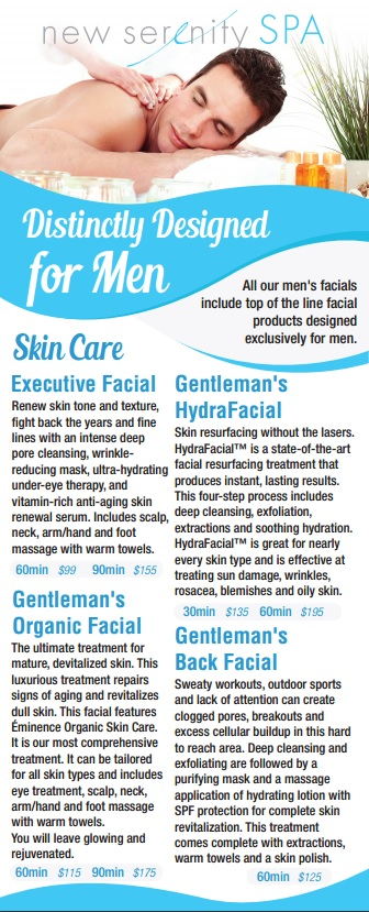 Spa for Men Menu 2